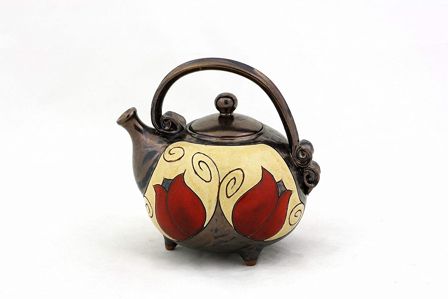 Ceramic Limited time trial price handmade teapot Potteryteapot Raleigh Mall Co Unique quirky