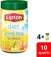 Lipton Diet Iced Tea Mix for any time of day Decaffeinated Lemon 100% Made From Real Tea Leaves Sugar Free, 3 Ounce, Pack of 4
