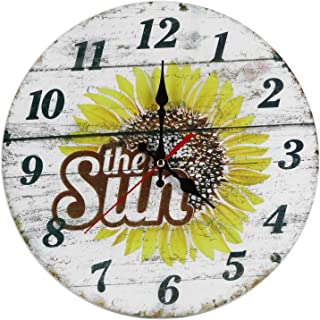 Hanging Clock, Wall Clock, European Style for Living Room Home Bedroom Decor Office(1#)