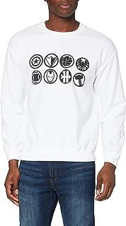 Marvel Men's Avengers Assemble Team Icons Long Sleeve Sweatshirt