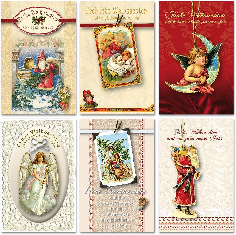 30 Grußkarten hochwertige Weihnachtskarten Weihnachten Nostalgie Handarbeit B076TGY9S3 | Zu verkaufen  | eine große Vielfalt  | Schön