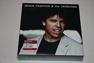 George Thorogood & The Destroyers-Limited Edition Box-Includes- Bad To The Bone / No Particular Place To Go -Exclusive 7-Inch Vinyl & T-Shirt Black, L/XL Package