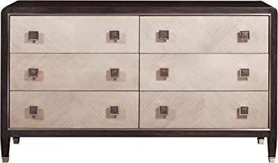 Amazon.com: Stardust 6 Cajón Dresser & Espejo en blanco ...