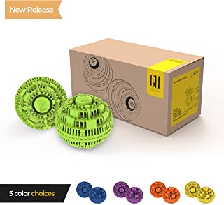 Grateful House Offer a Premium Quality Chemical Free Set of 2 Eco Friendly Laundry Balls. Never use Harsh Chemical and toxins Again with This Incredible Non Detergent Laundry System. (Green)