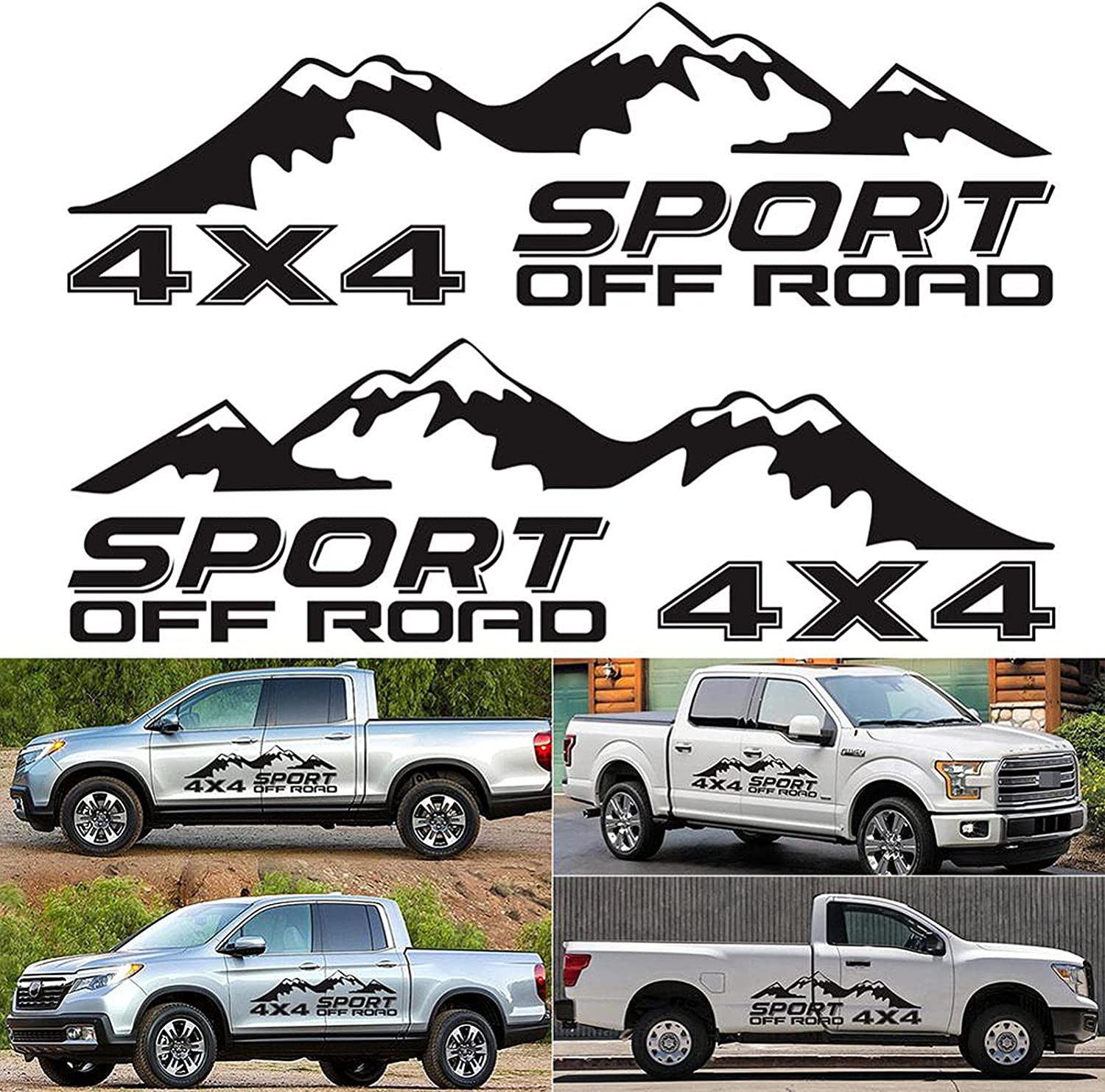 nasASLK Car Vinyl Stripe Max 85% OFF Indianapolis Mall 4x4 Off-Road Image Graphic Decals S and