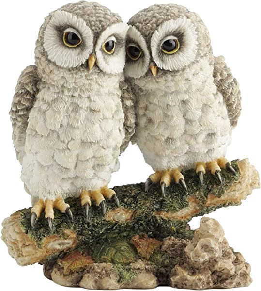 Owls Perched On Branch Figurine Collectible Statue