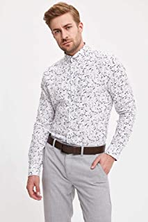 DeFacto Çiçekli Slim Fit Gömlek