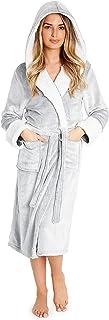 CityComfort Badjas Fleece, Luxe Badjas Dames, Knuffelfleece Badjas, Warme Ochtendjas, Pluche Badjassen met Kap, Herfst en ...