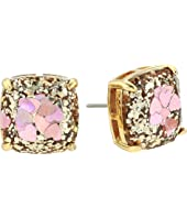 Kate Spade New York - Glitter Small Square Stud Earrings