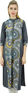 Phagun Women's Mandarin Collar Kurta Kurti Cotton Tunic Indian Clothing