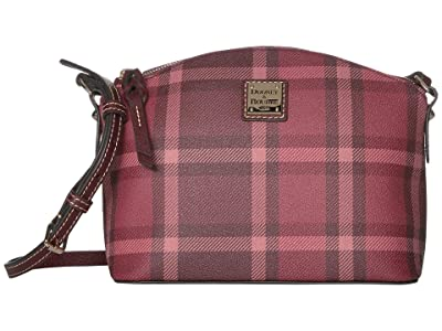 Dooney & Bourke Graham Plaid Suki Crossbody (Red/Bordeaux Trim) Handbags