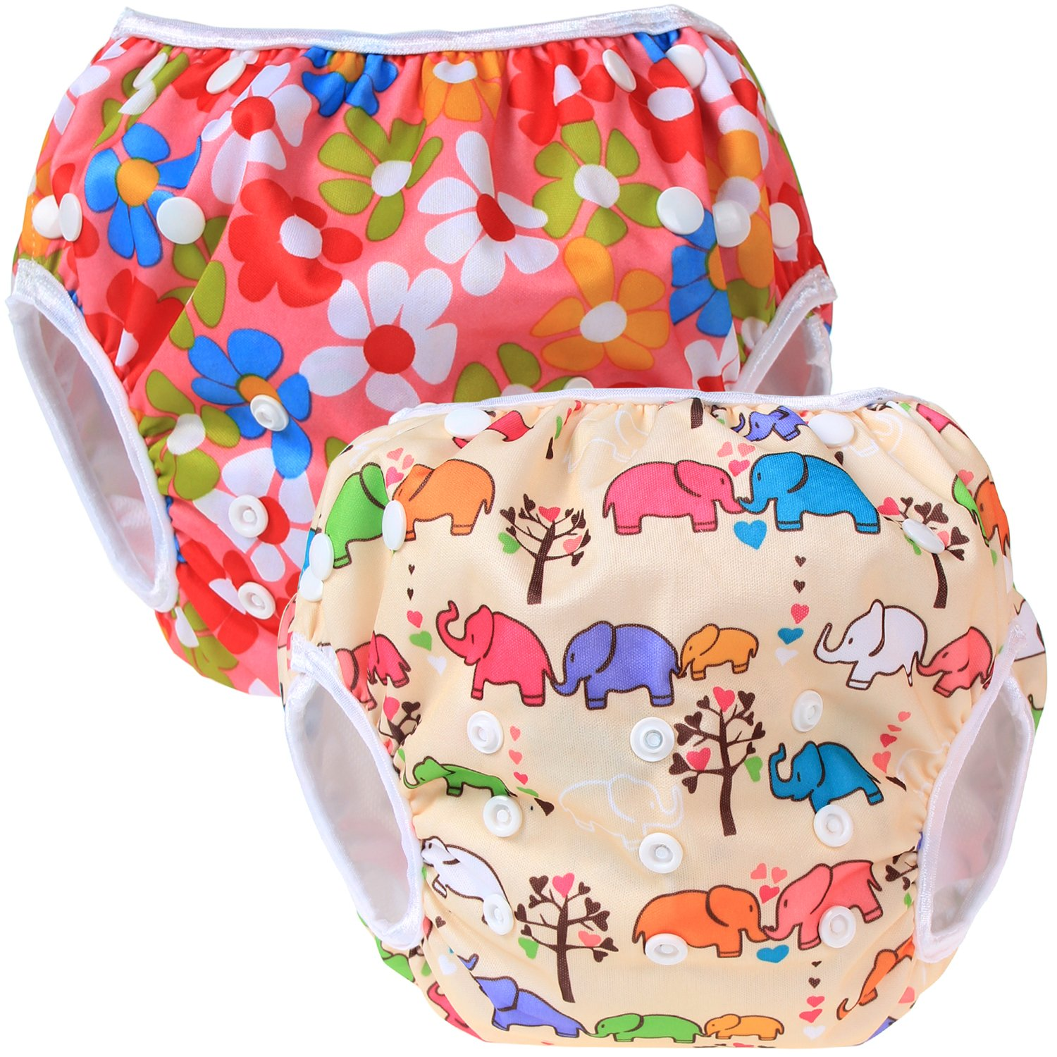 Washable and Adjustable Comfortable Teamoy Reusable Swim Nappy for Baby Boys/& Girls 2 Packs Ideal for Swimming Lessons//Holiday