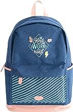 Mr. Wonderful Mochila Azul, Backpack - Be kind and work hard Unisex niños, Multicolor, Talla única