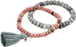 Good Luck Jasper Gemstone Beaded Bracelet Set