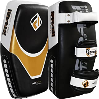 2Pcs Thai Kick Boxing Strike Curved Arm Pad MMA Muay Focus Punch Shield Mitt