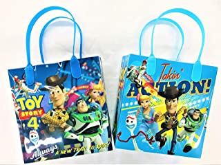 Disney Toy Story Reusable Party Favor Goodie Small Gift Bags (12 Bags)