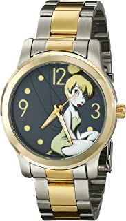 Disney Unisex Gold-Tone Metallic-Tone Character Watch
