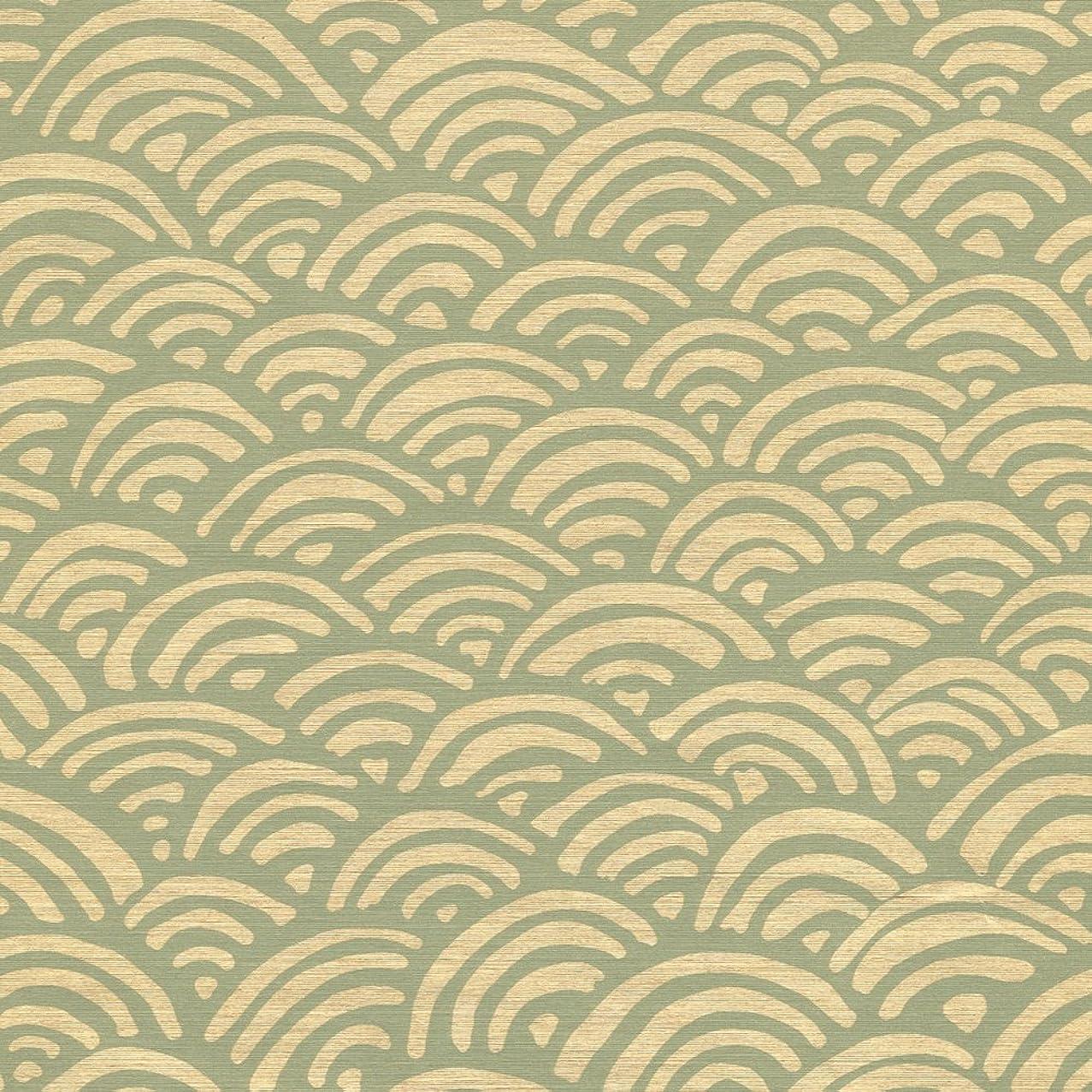 Caspari 89463RSC Lulu's Rainbow Aqua And Pale Gold roll of gift wrap, Green