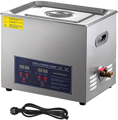 popular SHZOND Ultrasonic Cleaner 2.64Gal / high quality 10L Sonic Cleaner Stainless Steel Heated Ultrasonic Cleaner 240W Ultrasonic Power Ultrasonic Jewelry 2021 Cleaner sale