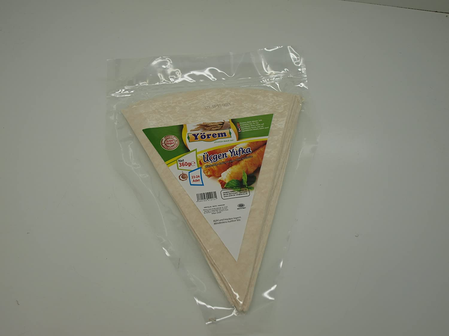 Pastry Leaves Yufka Triangle 2 Pieces Manufacturer regenerated product Pack 46 Recommendation -