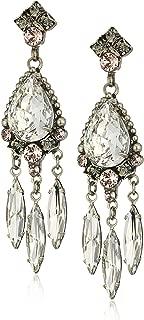 Sorrelli Black Crystal Statement Drop Earrings