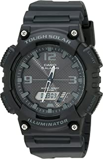 Casio Unisex-Adult Solar Powered Wrist Watch analog-digital Display and Resin Strap, AQS810W-1A2