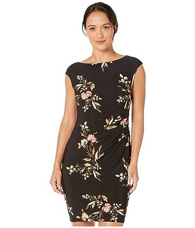 LAUREN Ralph Lauren Petite Novellina Dress (Black/Pink/Multi) Women