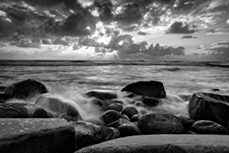 La Jolla Beach Sunset BW 05.15.2017 Black and White California Coastal Fine Art Photograph