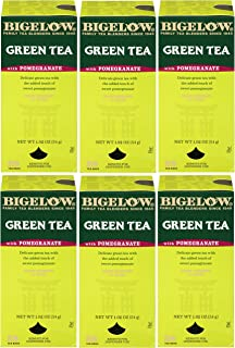 Bigelow Green Tea with Pomegranate 28-Count Boxes (Pack of 6) Premium Green Tea with Pomegranate Rosehips H...