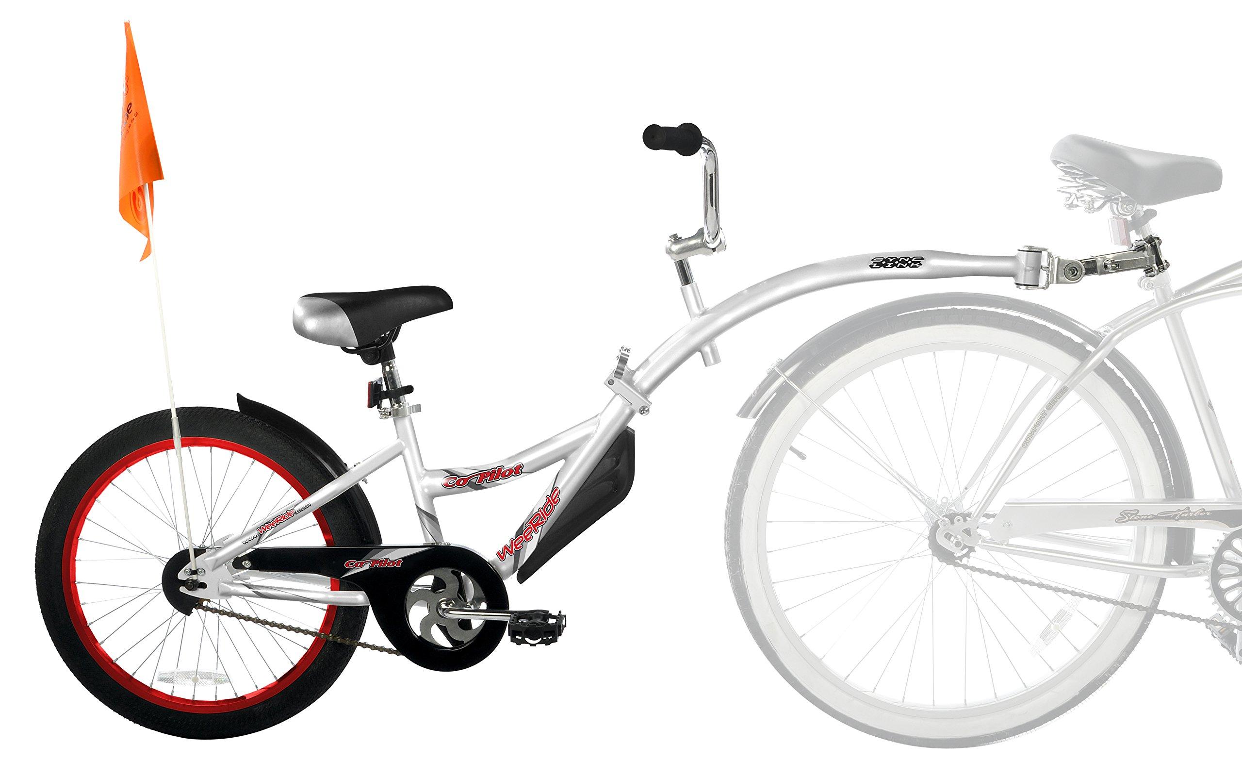 WeeRide Kids Co - Remolque de Bicicleta Infantil, tamaño 20, Color Plateado: Amazon.es: Deportes y aire libre