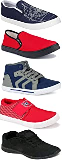 WORLD WEAR FOOTWEAR Sports Running Shoes/Casual/Sneakers/Loafers Shoes for Men Multicolor (Combo-(5)-1219-1221-1140-461-114)