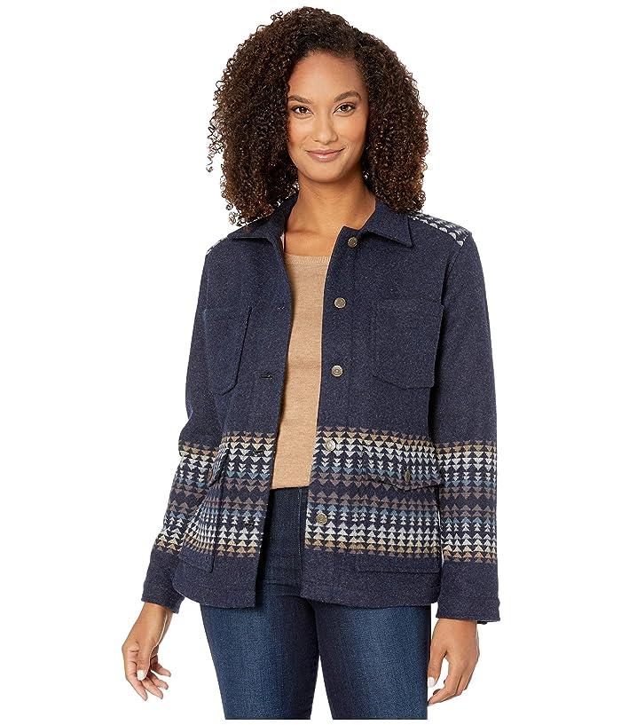 Harding Western Horizons Coat (Navy Harding Stripe Jacquard) Women's Coat
