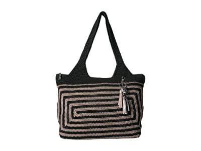 The Sak Casual Classics Large Tote (Black/Shitake Stripe) Tote Handbags