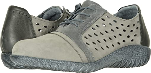Soft Gray Nubuck/Vintage Slate Leather Combo