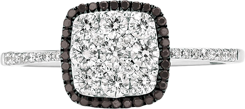 Memphis Mall LeVian 14k White Gold 2 Bombing free shipping 3 S and Cushion Black Diamond Cttw