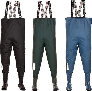 comprar comparacion 3Kamido® Vadeadores de Pesca para jóvenes, Botas de Pesca Adolescentes, zancudas Junior, Negro, Verde y Azul Denim 36, 37,...