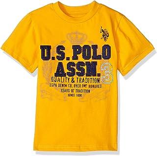66d356918 U.S. Polo Assn. Boys' Short Sleeve Fancy Crew Neck T-Shirt