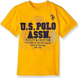 U.S. Polo Assn. Boys' Short Sleeve Fancy Crew Neck T-Shirt