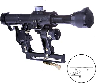 BelOMO POSP 4x24 VM (BM). Optical Rifle Scope. Russian Side Mount. 1000m Rangefinder. 1 MOA. Combloc