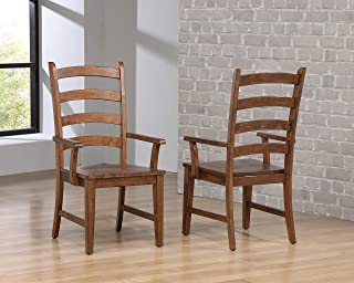 Sunset Trading DLU-BR-C80A-AM-2 Simply Brook Dining Arm Chair, Amish Brown
