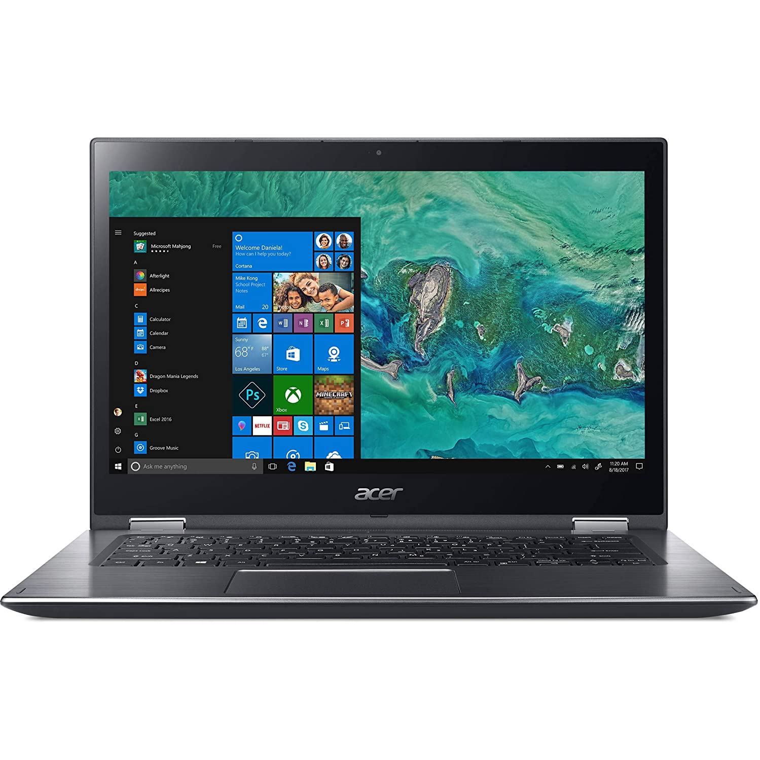 Acer 14in Spin 3 Laptop Intel Core i5-8250U 1.60GHz 8GB Ram 1TB HDD Windows 10 Home (Renewed)