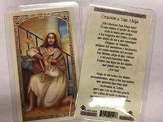 san alejo prayer card