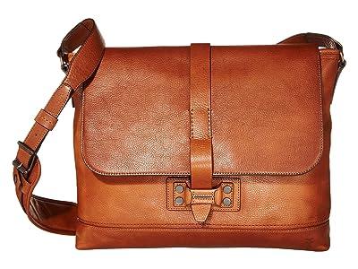 Frye Bowery Messenger (Caramel) Messenger Bags