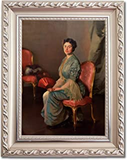 Ori Gallery Framed Canvas Print - The Red Fan (Cropped to fit) - by William McGregor Paxton