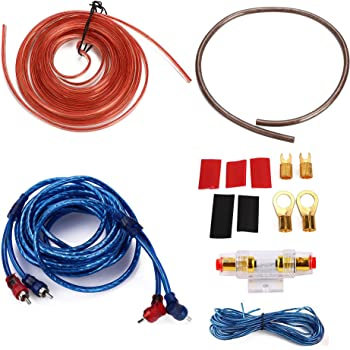 Amazon.com: 10 Gauge Amp 1500W Auto Car Audio System Speaker Kit Complete Subwoofer  Amplifier Install Wiring Cable: AutomotiveAmazon.com