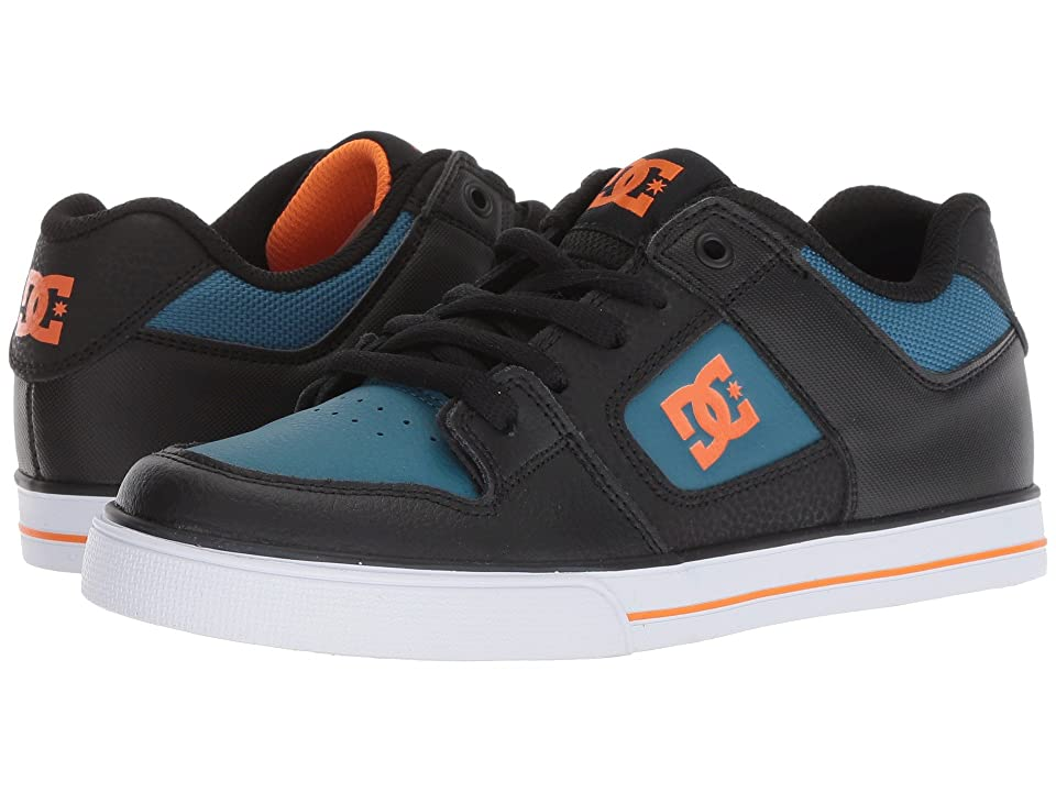 DC Kids Pure (Little Kid/Big Kid) (Black/Orange/Blue) Boys Shoes