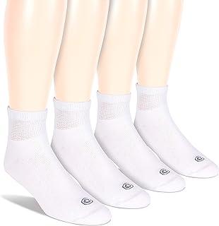 Sponsored Ad - Doctor's Choice Men's Diabetic Ankle Socks, Wide Non-Binding Top, Circulatory, Full Cushion, 4 Pack, White,...