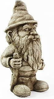 Hiking Gnome Statue Home and Garden Statues Concrete Statuary