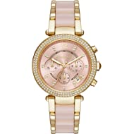 Womens Parker Blush Acetate and Goldtone Chronograph Watch