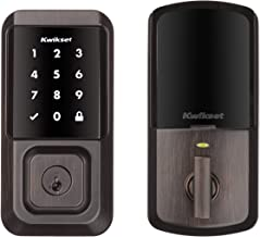 Kwikset 99390-002 Halo Wi-Fi Smart Lock Keyless Entry Electronic Touchscreen Deadbolt Featuring SmartKey Security, Venetia...